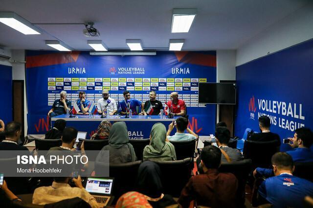 مسائل سریالی نشست های خبری لیگ ملت های والیبال 2019 در ارومیه