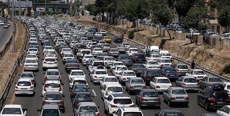 ترافیک پرحجم در راستا های منتهی به مشهد