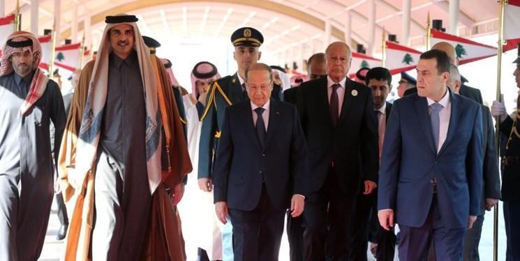 دعوت لبنان از امیر قطر برای سفر به بیروت
