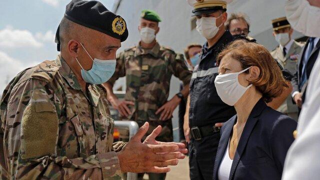 وزیر دفاع فرانسه: کنار لبنان ایستاده ایم