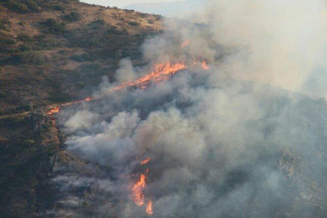 مهار 80 درصدی آتش سوزی مراتع مشرف به جنگل های ارسباران