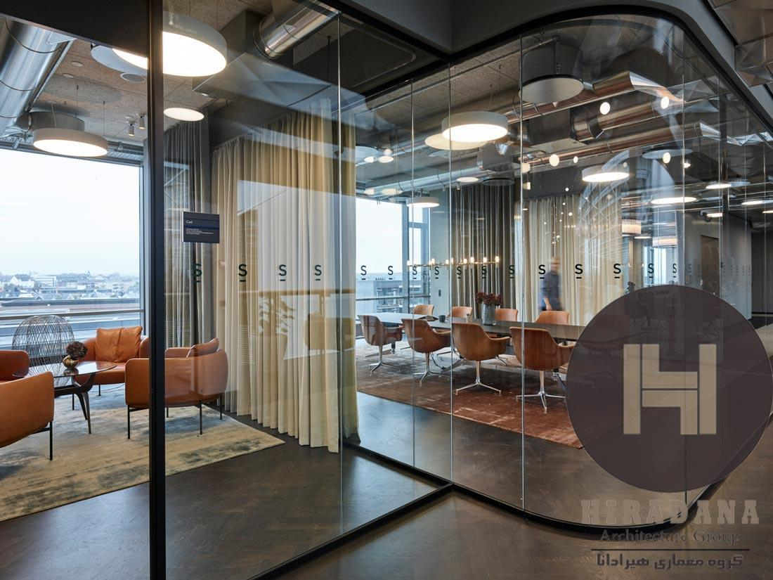 طراحی داخلی اداری شرکت حقوقی در کپنهاگن