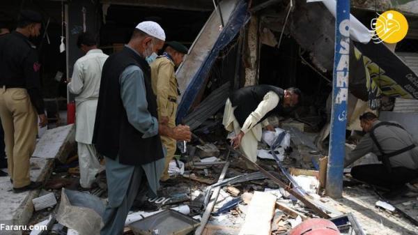 (تصاویر) انفجار در کراچی