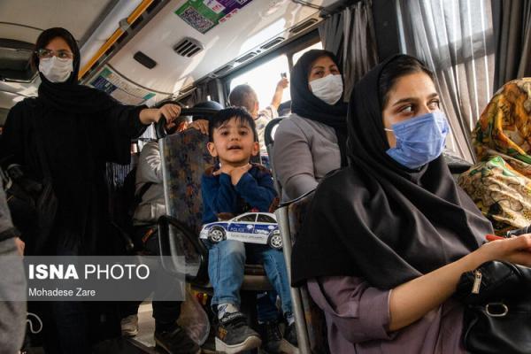 (تصاویر) حمل و نقل عمومی مشهد در شرایط قرمز