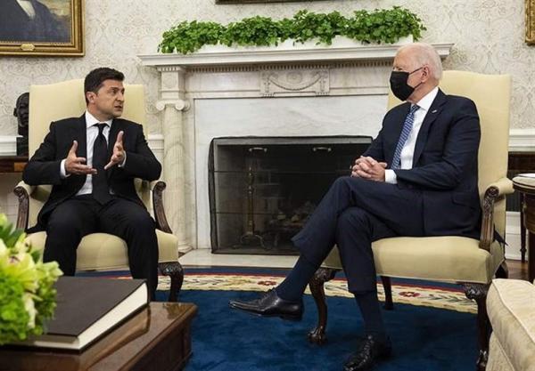 بایدن: همانند گذشته از اوکراین در برابر تهدیدات روسیه حمایت می کنیم
